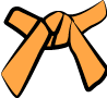 Cinture Obi - Rappresentazione Dei Colori arancione