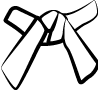 Cinture Obi Rappresentazione Dei Colori bianca