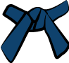 Cinture Obi Rappresentazione Dei Colori blu