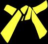 Cinture Obi Rappresentazione Dei Colori gialla