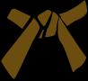 Cinture Obi Rappresentazione Dei Colori marrone
