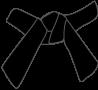 Cinture Obi Rappresentazione Dei Colori nera