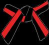 Cinture Obi Rappresentazione Dei Colori rossa-e-nera