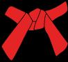 Cinture Obi Rappresentazione Dei Colori rossa